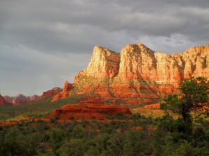 View of the red rocks of sedona